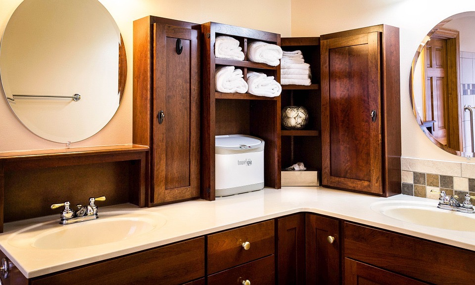 Redo Bathroom Cabinets For Cheap