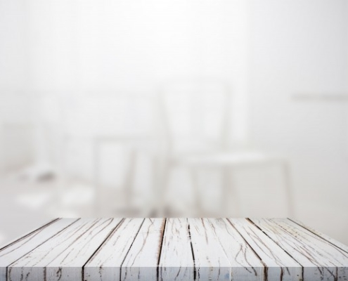 wooden countertop